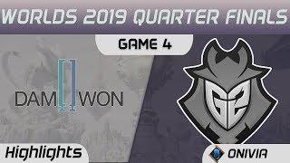 DWG vs G2 Highlights Game 4 Worlds 2019 Main Event Quarter Finals Damwon Gaming vs G2 Esports by Oni