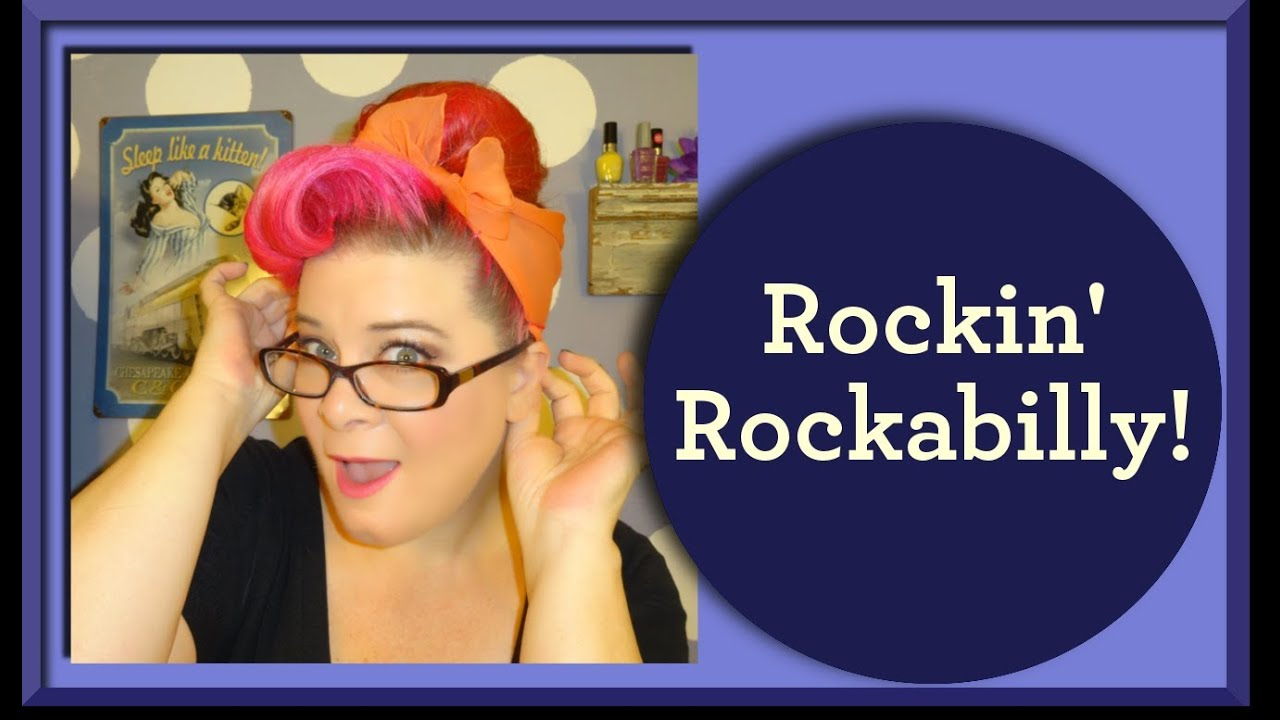 Rockabilly Hairstyle Done Quick And Easy A Vintage Hair Tutorial
