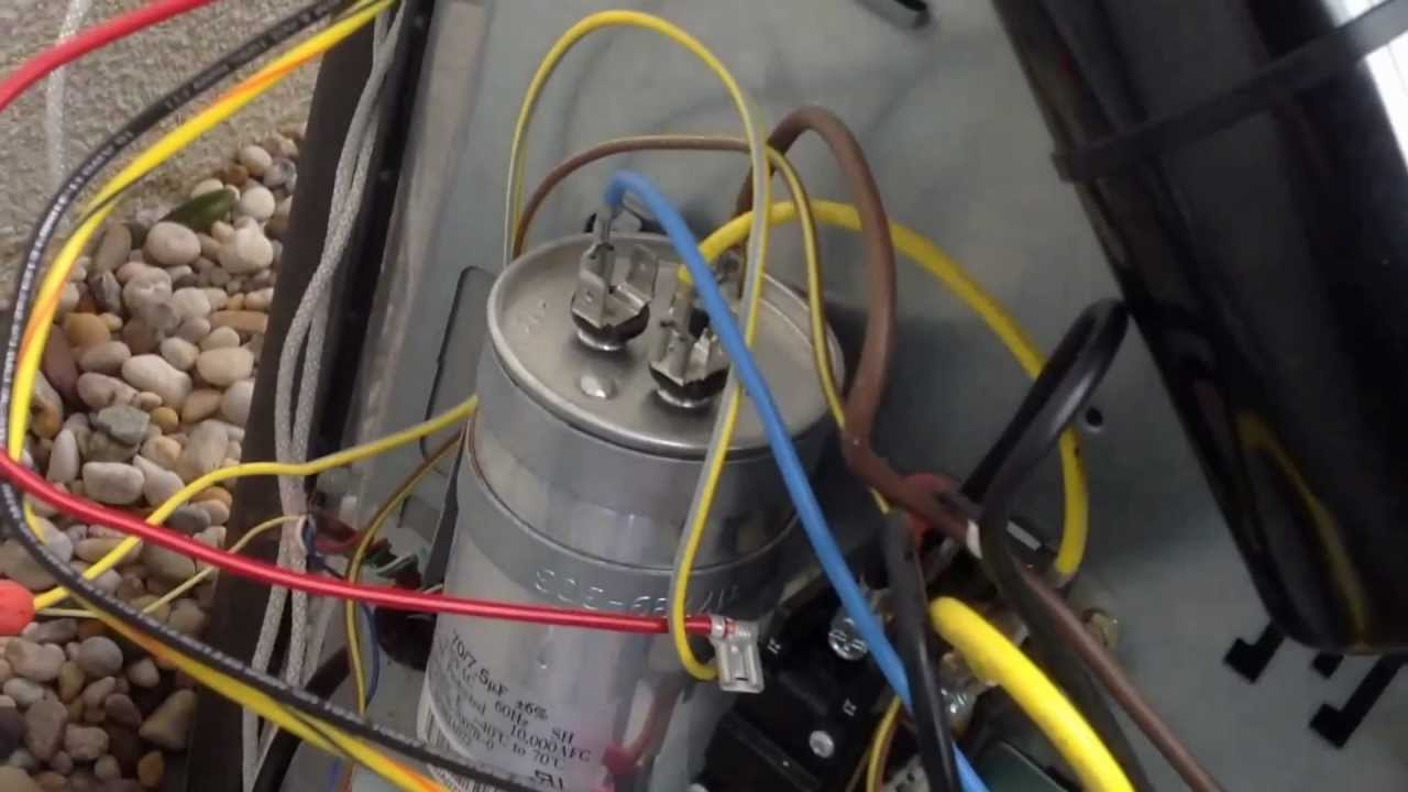 Dual Capacitor Motor Wiring Diagram Amp Installing A 5-2-1 Hard Start Kit On Tempstar/carrier Hvac - Youtube
