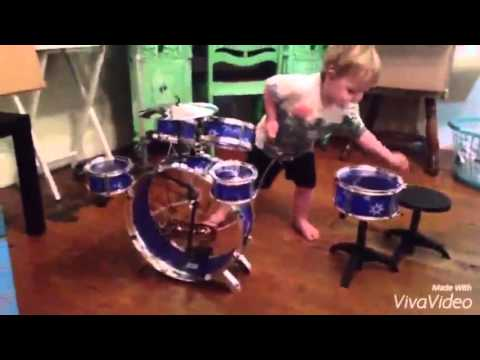 Awesome Toddler Drum Set   YouTube Awesome Toddler Drum Set