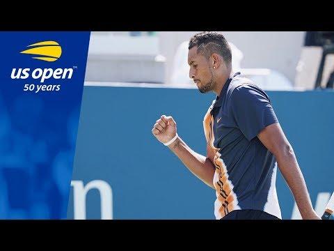Nick Kyrgios Surpasses the Heat and Pierre-Hugues Herbert - 2018 US Open