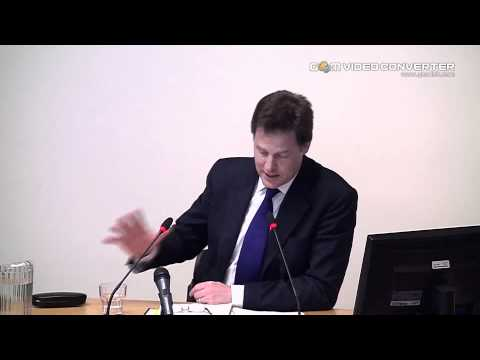 Nick Clegg Deputy Prime Minister Leveson Inquiry