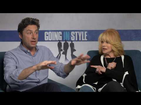 Zach Braff & Ann Margret Going In Style Interview