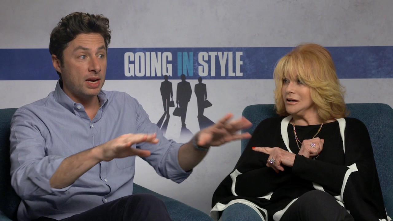 zach braff ann margret going in style interview zach braff ann margret going in style interview
