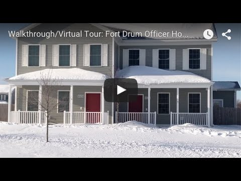Walkthrough/Virtual Tour: Fort Drum Officer Housing in Monument Ridge
