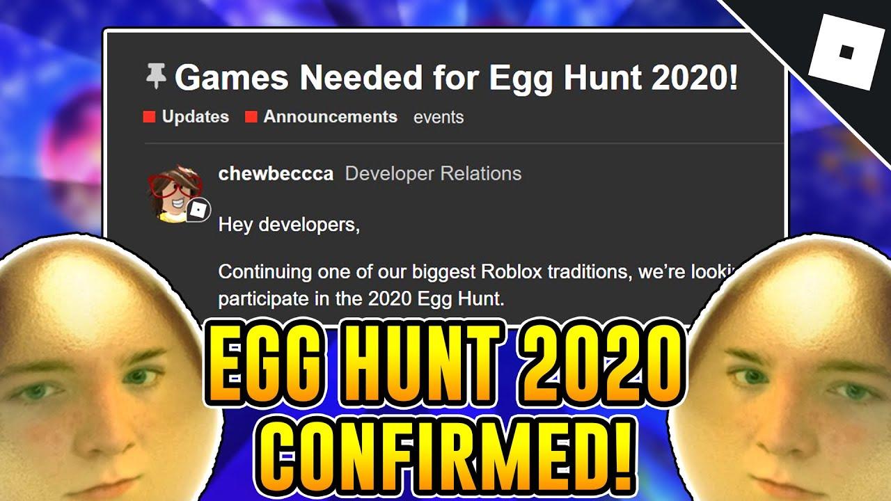 Egg Hunt 2020 Has Been Confirmed Roblox Youtube