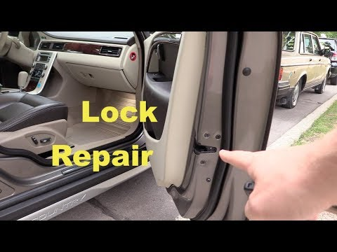 Door Lock Repair On Volvo Xc70 Replacing Electrical Motor Youtube