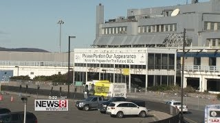 Bradley Airport holds ceremonial demolition of Terminal B, opens time capsule