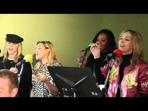 """All Saints acoustic cover of Fleetwood Mac's """"The Chain"""" at BBC Radio 2"""
