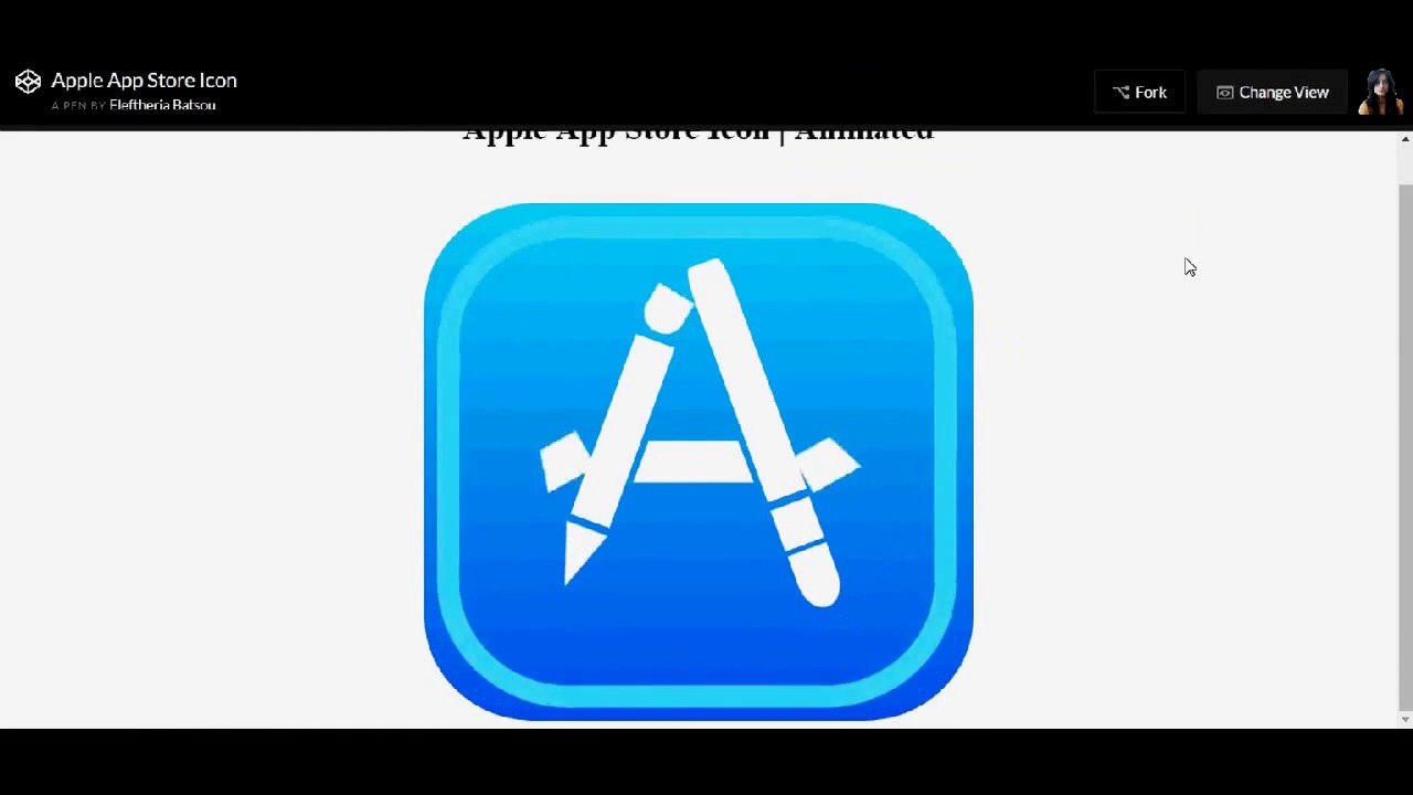 How to pure css that - Apple App Store icon with Animation