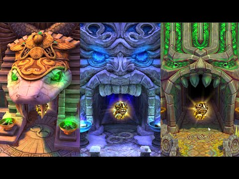 Temple Run 2 All Maps! Blazing Sands Frozen Shadows and Sky Summit