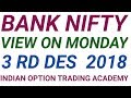 BANK NIFTY VIEW ON MONDAY 3 RD DES 2018
