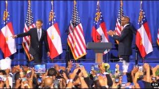 Tyler Perry introduces US President Barack Obama at Atlanta fundraiser