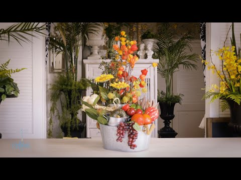 Floristry Design Tutorial: Thanksgiving Holiday Celebration Table Flowers thumbnail