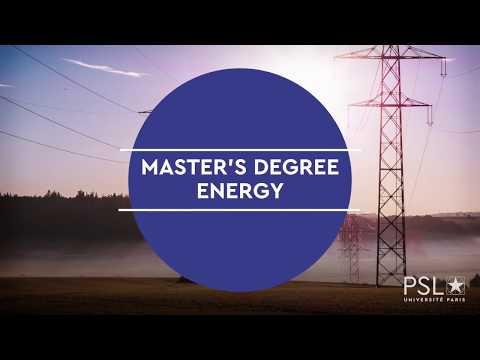 Master Energie PSL
