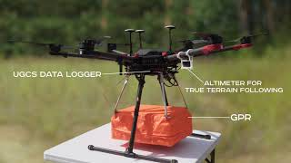Ground Penetrating Radar (GPR) drone to locate gas pipes