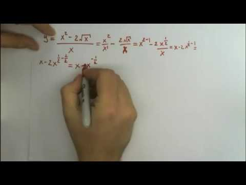 Find the derivative (x^2 - 2sqrt(x)) / x - Differentiation Rules