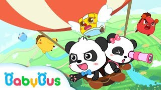 Baby Panda's Hot Air Balloon Trip | Look for Zero Mountain | Math Kingdom Adventure 7 | BabyBus