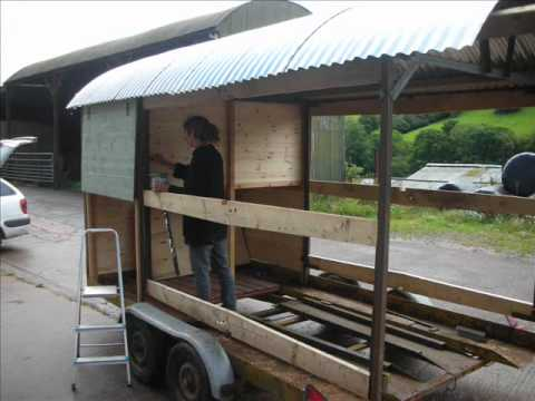 Shepherds hut build youtube for Small hut plans