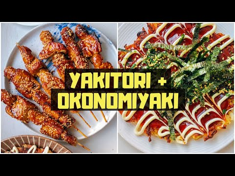 VEGAN JAPANESE STREET FOOD: How To Make Okonomiyaki + Yakitori 🇯🇵🥢🌱