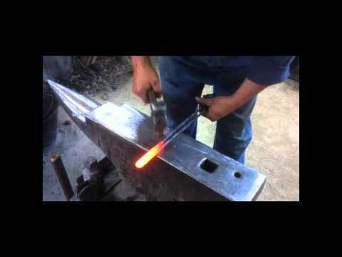 How a blacksmith makes a metal curtain tie back