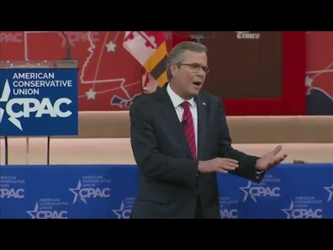 Conservatives cheer and boo Jeb Bush