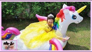 유니가 프리파라 친구들을 만나 공주로 변신 했어요! 뷰티 메이크업(Makeup) 화장놀이 프리파라 키즈 화장품 Yuni Pretend Play with Princess Makeup
