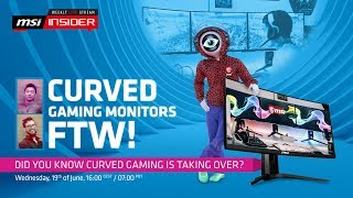 Curved gaming monitors FTW!