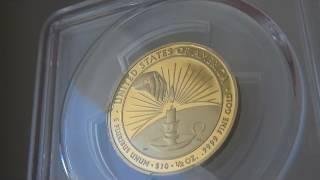 2014-W 10ドル金貨 エレノア・ルーズベルト  PCGS PR70DCAM ファーストストライク マーカンティーサイン入り