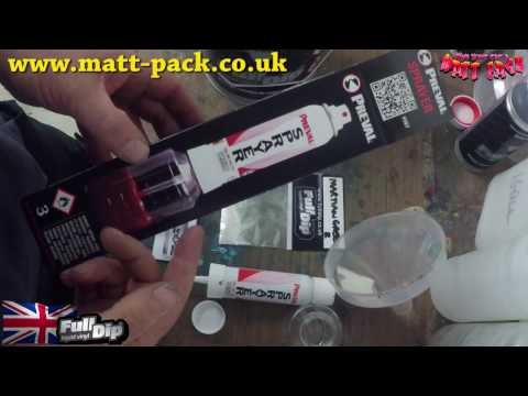 Using a Preval with Matt-Pack pigments