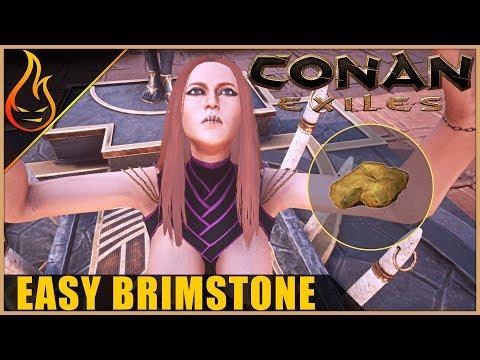 Easy Brimstone Location Conan Exiles 2018 Beginner Tips