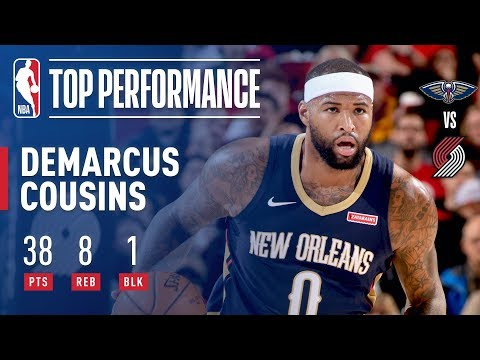 DeMarcus Cousins Dishes Out 38 Pts and 8 Rebs vs  Portland Trail Blazers | December 2, 2017