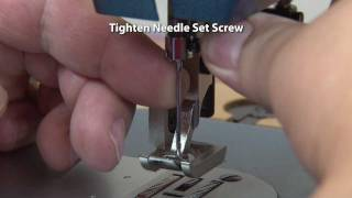 How to Insert a Sewing Machine Needle