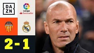 Zinedine Zidane kassiert seine erste Pleite: Valencia - Real Madrid 2:1 | La Liga | DAZN Highlights