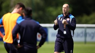 Jaap Stam's first training session as Royals boss