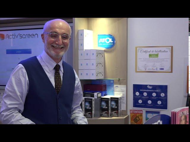 Artisan Commerçant éco-responsable, Christophe Albert, opticien.