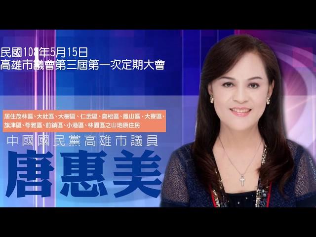 1080515高雄市議員唐惠美總質詢精華版
