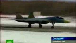 sukhoi pak fa t 50 first flight video wmv