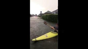 Überschwemmung in Damme Unwetter Deutschland