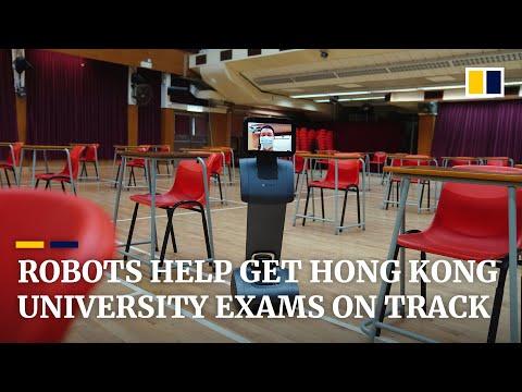 Robots check body temperatures as Hong Kong's university entrance exams go ahead amid pandemic