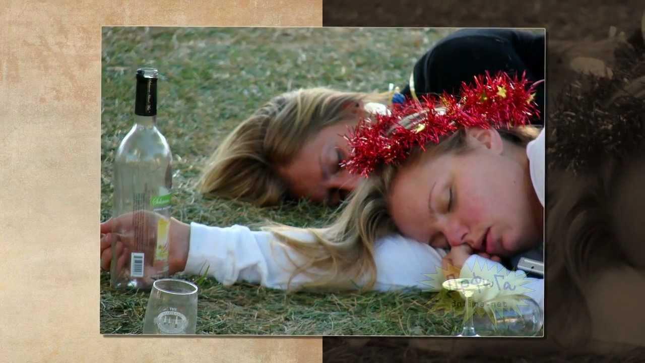 Открытка пьяные женщины, днем