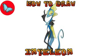 How To Draw Pokemon - Inteleon | Drawing Animals