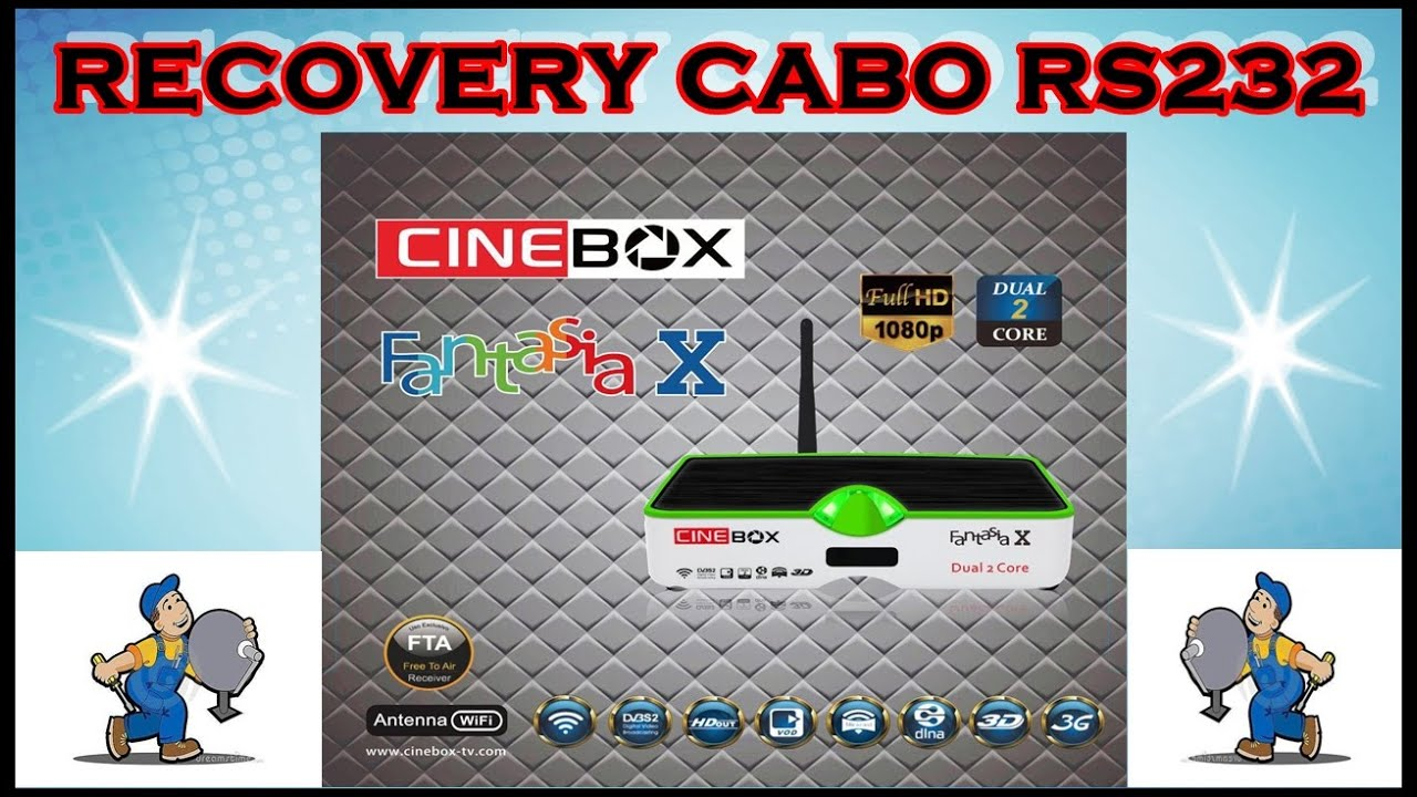 Recovery Cinebox Fantasia X - Led Verde Cabo RS232 - YouTube