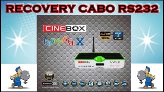 Recovery Cinebox Fantasia X - Led Verde Cabo RS232