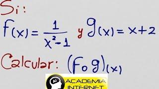 Composición de funciones.