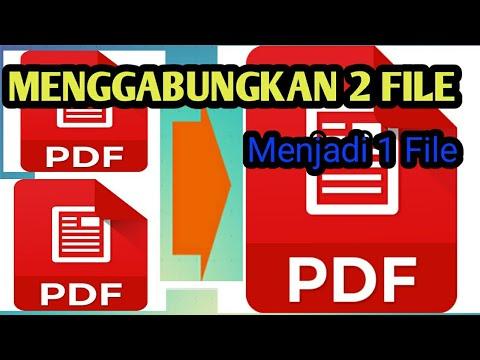 Cara Menggabungkan Dua File Pdf Menjadi Satu Youtube