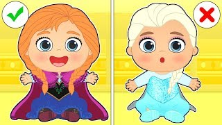 BABY ALEX AND LILY 🦌 Dress up as ANNA and KRISTOFF | Frozen Cartoons for Children