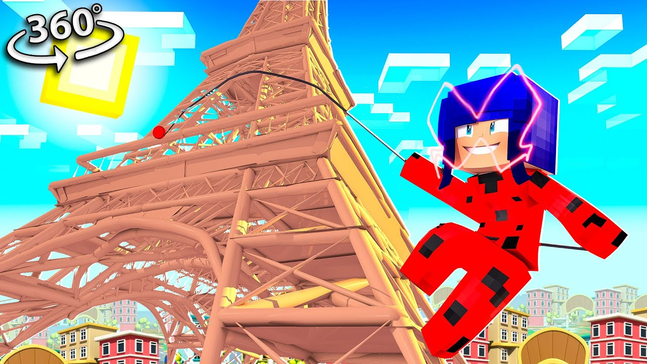 Minecraft But You're Miraculous LADYBUG! in 360