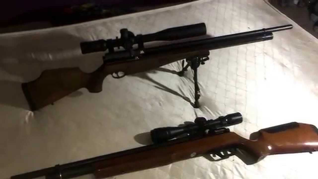 Air Arms s510 Extra FAC  22 & Benjamin Marauder  22 (side by side  comparison)