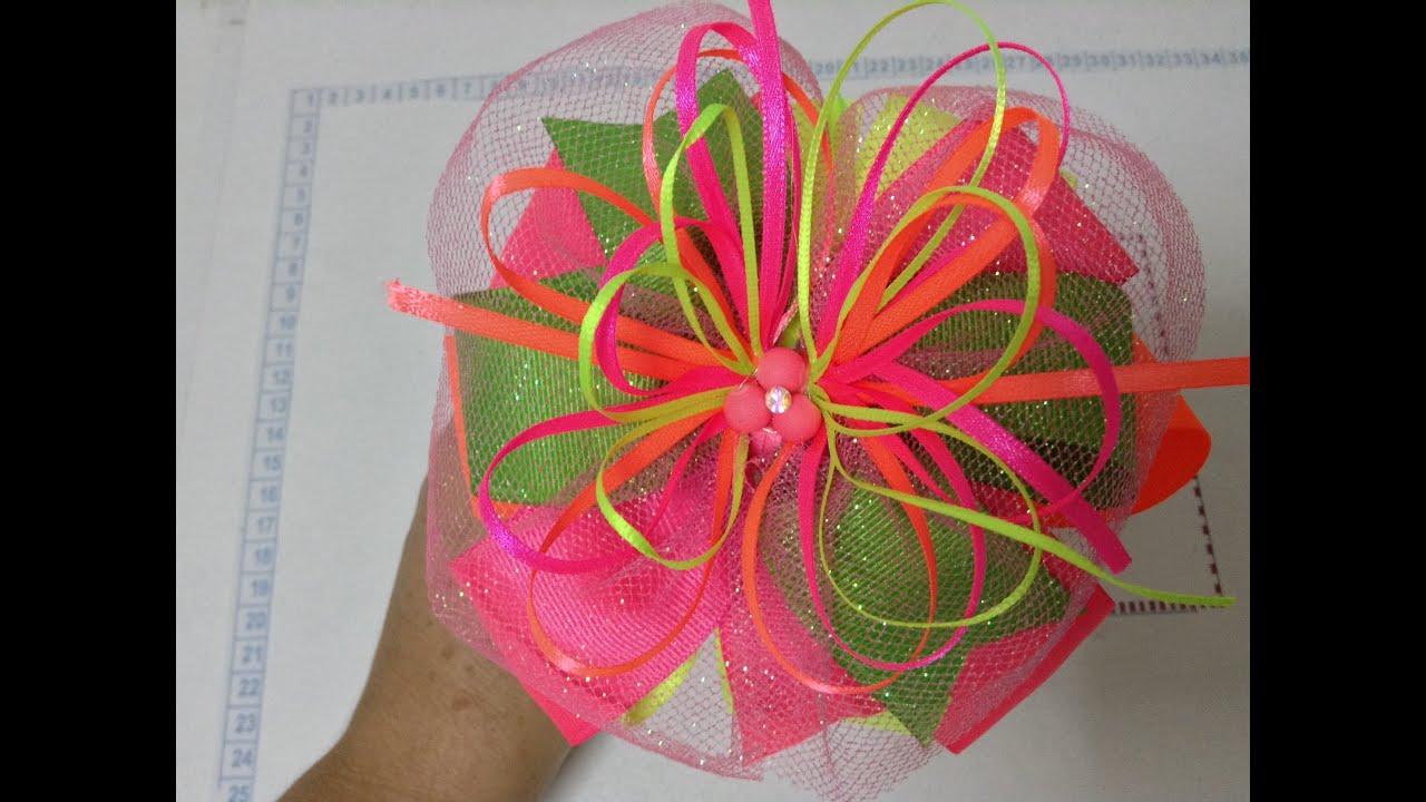 Como hacer una diadema con mo o color ne n video no 142 - Como hacer diademas ...